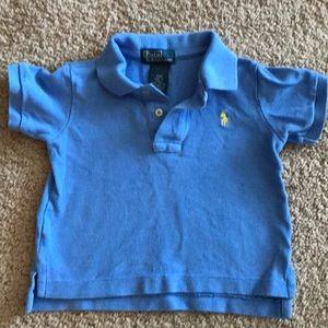 Light blue collared Polo by Ralph Lauren shirt